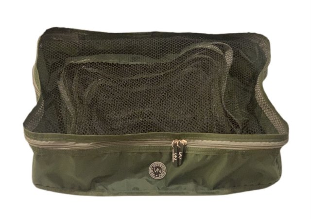 Kit nylon verde militar com cinza