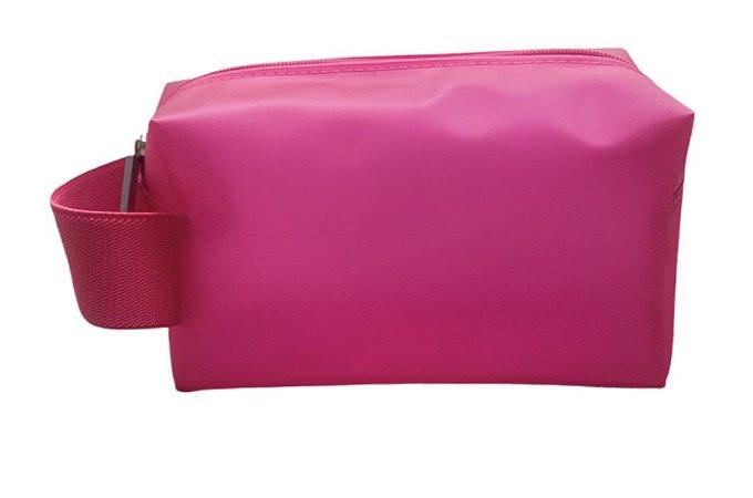 Necessaire quadradinha pink neon