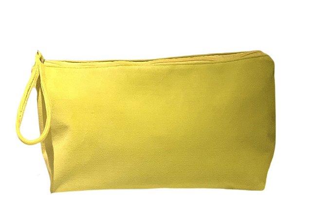 Necessaire vertical G plush amarelo