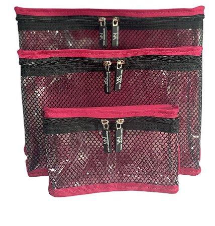 Kit nylon plastificado Pink com preto