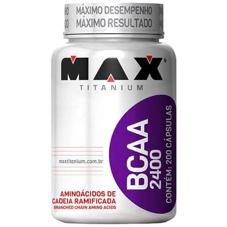 BCAA 2400 Max Titanium 200 Cápsulas