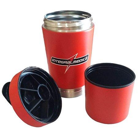 Coqueteleira Aluminio Integralmedica 2 Doses 590ml