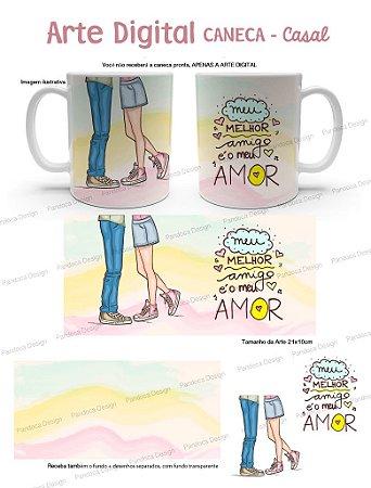 ARTE DIGITAL - Caneca Casal