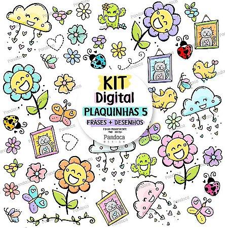 Kit Digital Plaquinhas 5 Pandoca Design