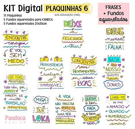 KIT DIGITAL - PLAQUINHAS 6 + FUNDOS