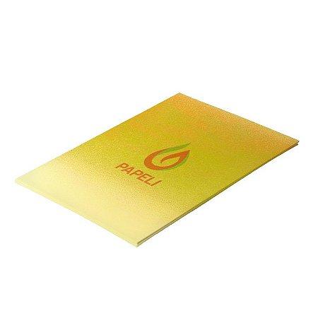 Papel Carnival Amarelo 230g Pct com 10 folhas