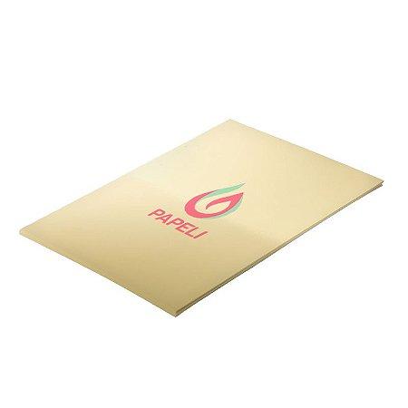 Papel Lamicote Ouro  255G com 10 folhas A4