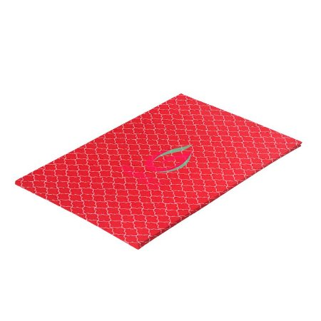 Papel Perolizado Geométrico Vermelho 180G C/ 20 Folhas A4