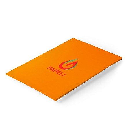Papel Color Plus - Tangerina 180g - A4 - 20 Folhas (Cartagena)