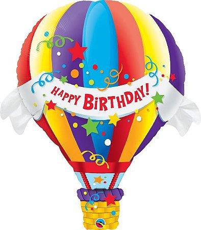 Balão de ar quente de aniversário