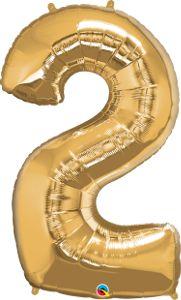 Número Dois - Ouro metálico