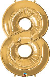 Número Oito - Ouro metálico