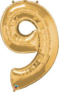 Número Nove - Ouro metálico