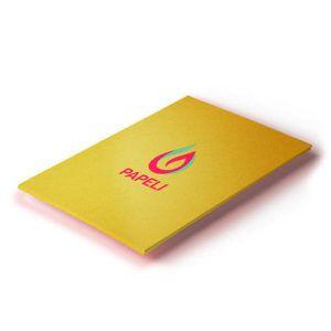 Papel Ouro Brilho Textura (Escama de Peixe) 255G com 10 folhas A4