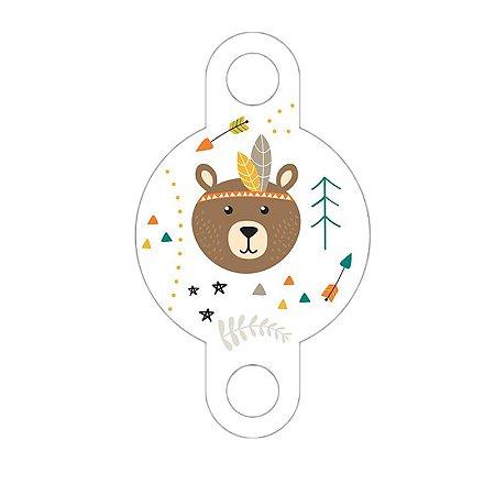Enfeite para Canudo Urso Boho Pacote com 10 unidades