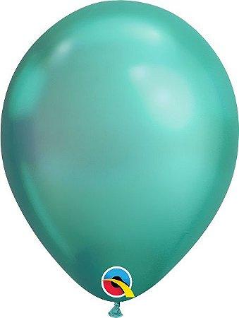 Balão  De Látex Verde Chrome