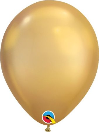 Balão De Látex Ouro Chrome