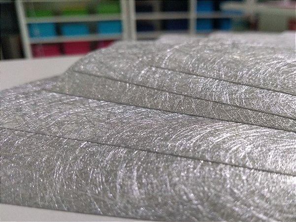 Papel Metalizado Liso Prata 90g A4 c/ 5 Folhas