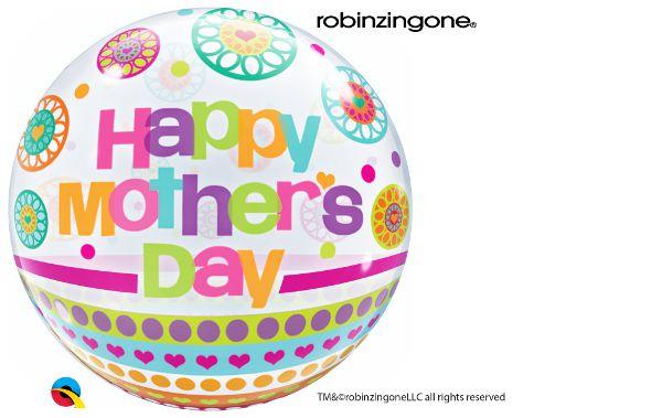 Balão Bubble Transparente Mother's Day Dots & Patterns