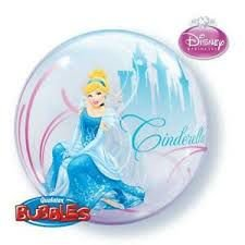 Balão Bubble Transparente Disney Cinderella - 22'' 56cm - Qualatex