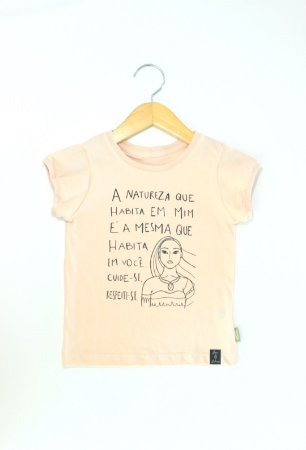 Camiseta rosa A Natureza que Habita