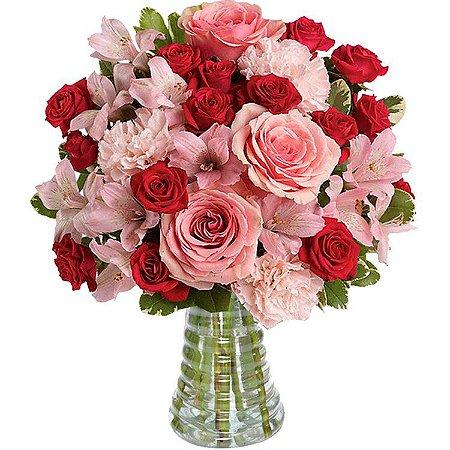 Buquê Rosas Vermelhas & Rosas