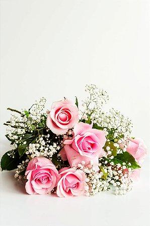 Buquê de 6 Rosas Colombianas Rose