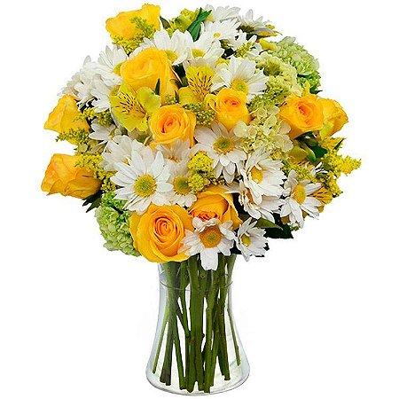 Arranjo de flores nobres Amarela