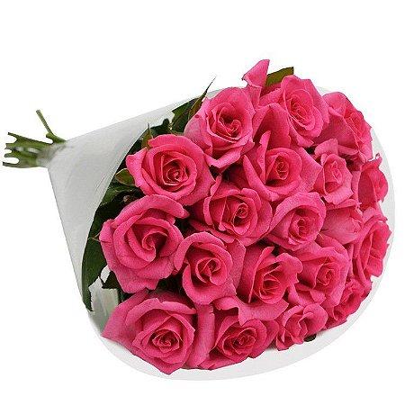 Buquê de Rosas Pink com 20 Unidades