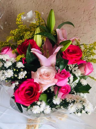 Luxuoso Buquê de flores Nobres e Rosas pink