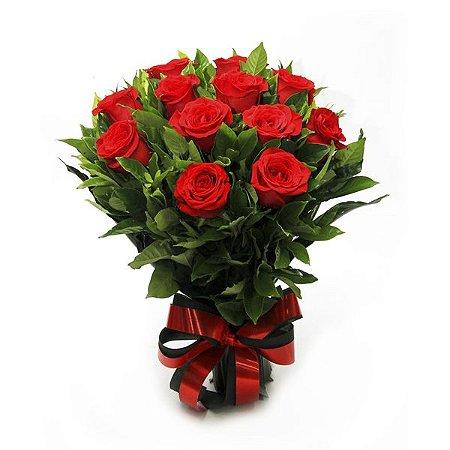 Buquê de rosas Premium - 12 unidades