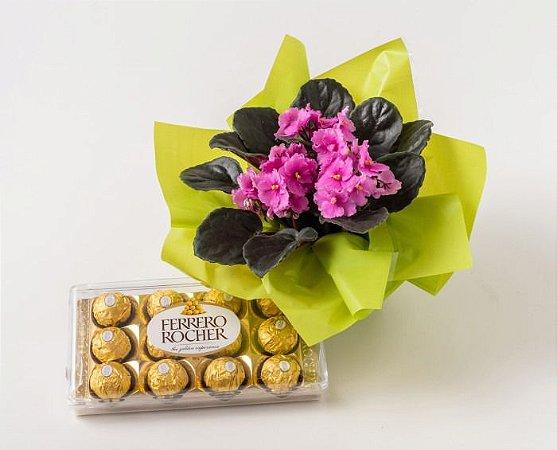 Violeta com Ferrero Rocher