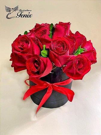 Luxuoso Box de Rosas Vermelhas