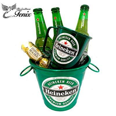 Balde Pequeno Cerveja Heineken e Ferrero Rocher