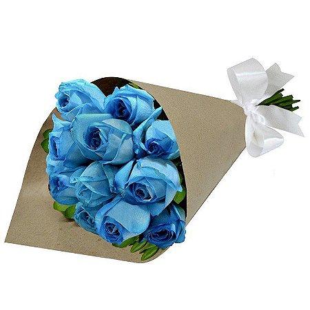 Sofisticado Buque de Rosas Azuis