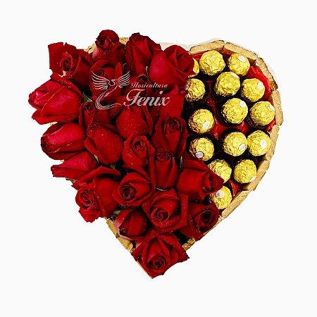 Coração do Cupido Com Ferrero Rocher