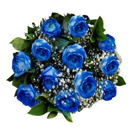 Buquê de rosas azul com egípcios