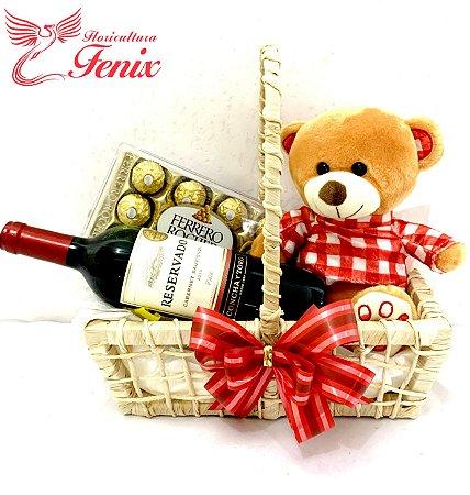 Kit Surpresa Romântica com Vinho Reservado