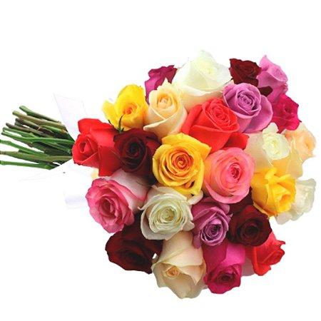 Buquê 20 Rosas Coloridas
