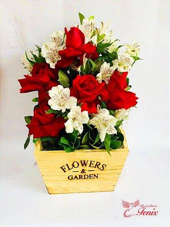 Garden Com Rosas e Astromélias