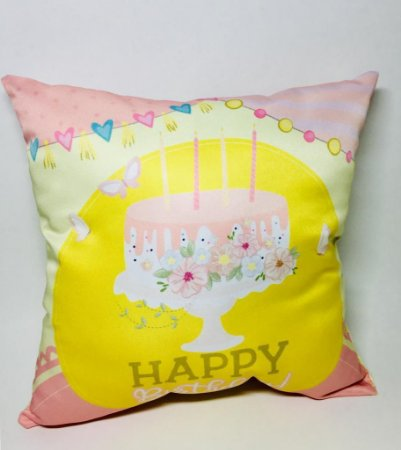 "Almofada ""Happy Birthday"""