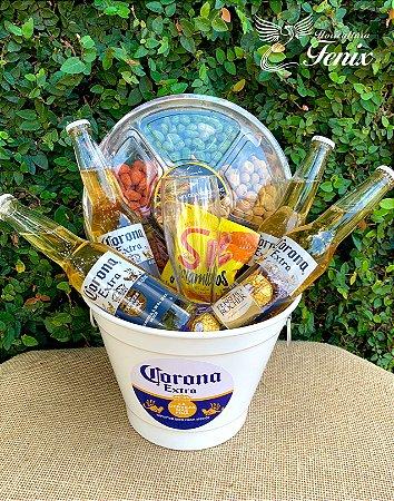 Balde de Corona Extra com Mix de Amendoins
