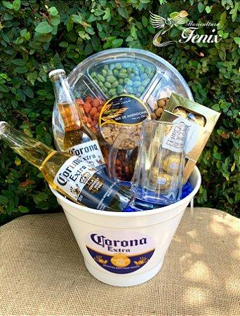 Balde Corona Extra e Caneca de Chopp