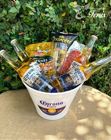Mega Balde Corona Extra Com Aperitivos