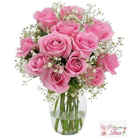 Elegância das rosas cor de rosa