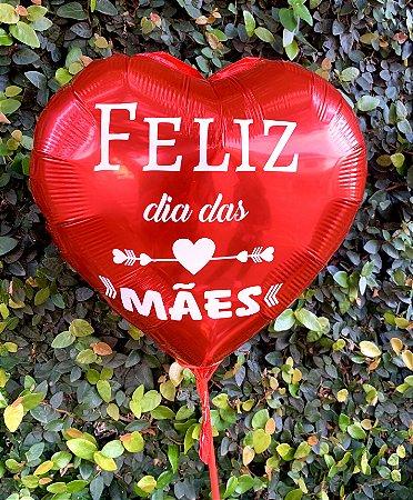"""Balão Coração """"Feliz dia das Mães"""""""