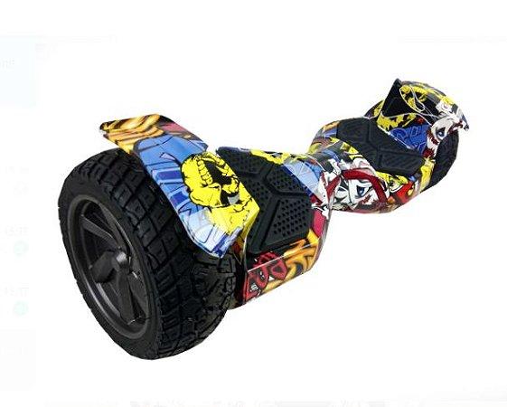 Hoverboard Skate Elétrico Off-road Cross Roda 10 Bluetooth