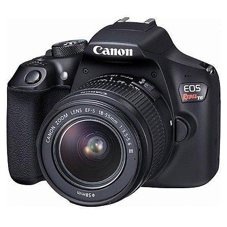 Câmera DSLR Canon EOS Rebel T6 + Lente
