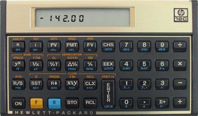 Calculadora Financeira Hp 12c - Dourada