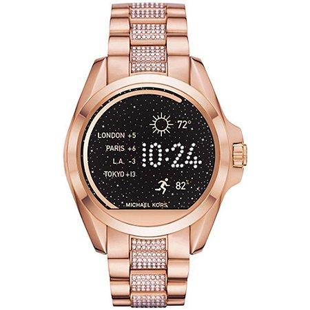 Relogio Michael Kors Access Smartwatch Touchscreen Plum  Rosé Feminino - MKT5018